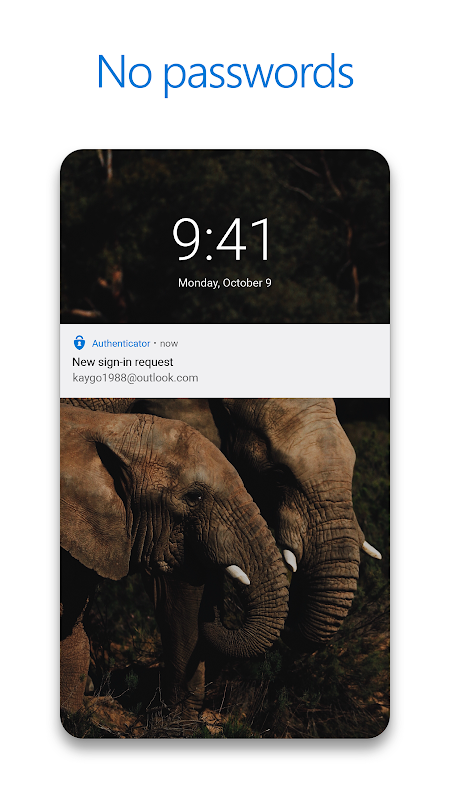 Screenshot Microsoft Authenticator APK