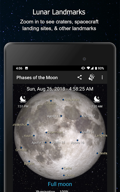 Screenshot Phases of the Moon Free APK