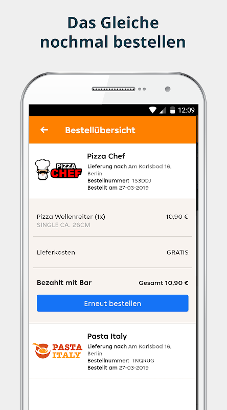 pizza.de | Food Delivery The App Store android Code Lads
