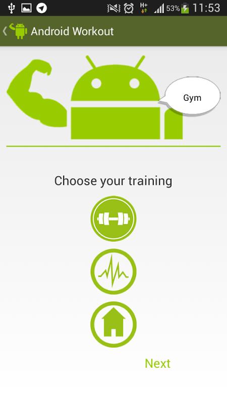 Screenshot Android Workout APK
