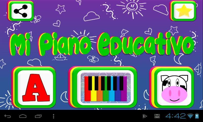 Screenshot Piano Educativo- Niños, Música, Letras y Animales APK