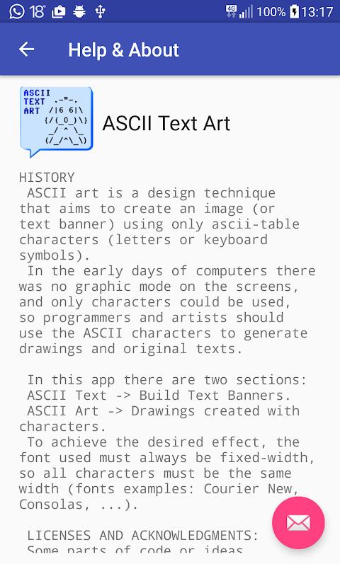 Screenshot ASCII Text Art APK