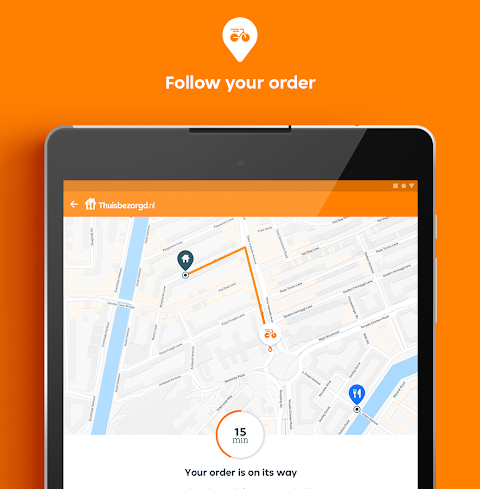 Thuisbezorgd.nl - Order food online The App Store android Code Lads