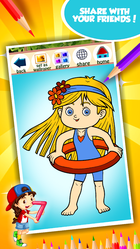 Screenshot Little Girl Coloring Book APK