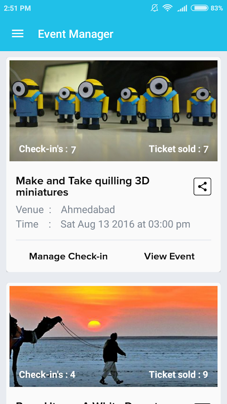 Screenshot Event Manager - AllEvents.in APK
