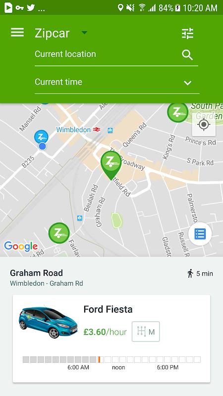 Screenshot Zipcar for Android APK