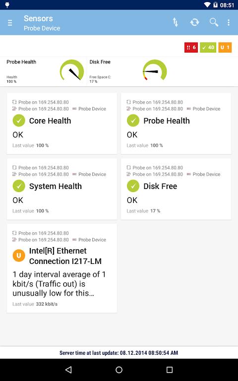 Screenshot PRTG for Android APK