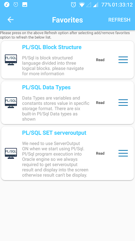 Screenshot Learn PL SQL -Offline Tutorial APK