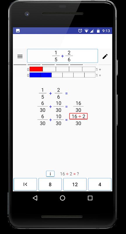 Screenshot Math (Fractions) Step By Step APK