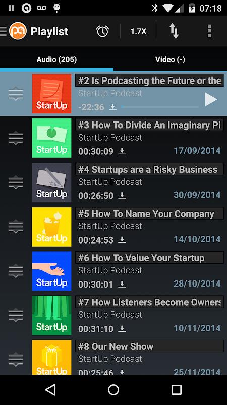 Screenshot Podcast Addict (Android 2.3) APK