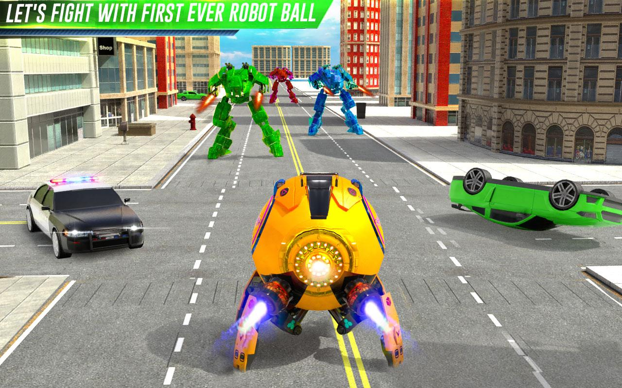 Futuristic Ball Robot Transform: Robot Games The App Store android Code Lads