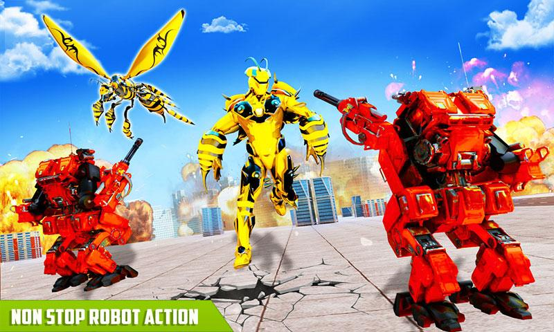 Flying Bee Transform Robot War: Robot Games The App Store android Code Lads