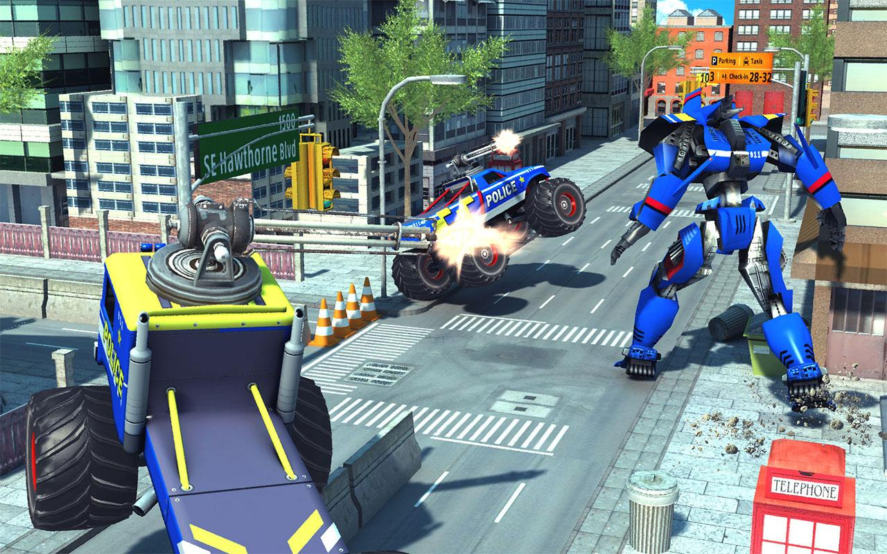 US Police Monster Truck Transform Robot War Games The App Store android Code Lads