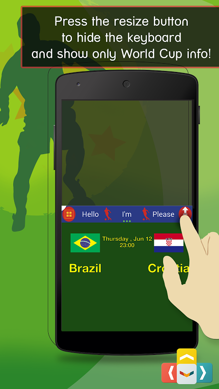 World Cup Live Online Keyboard The App Store android Code Lads