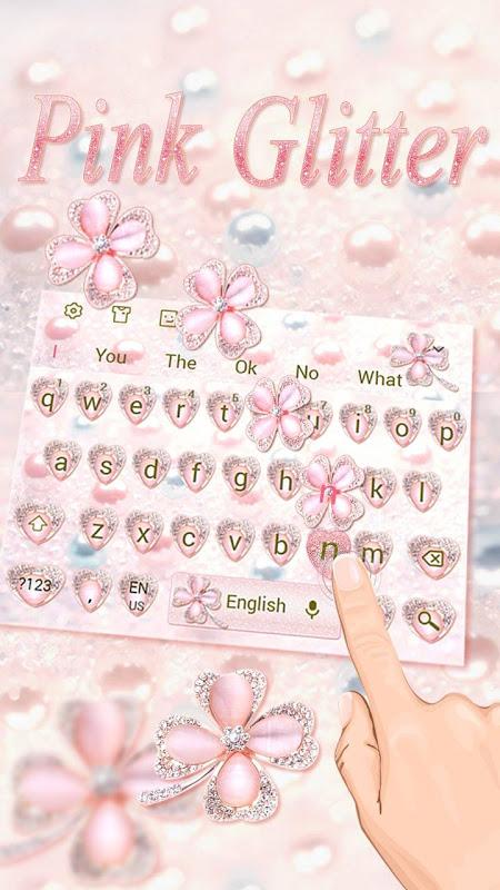 Screenshot Pink Glitter Keyboard APK