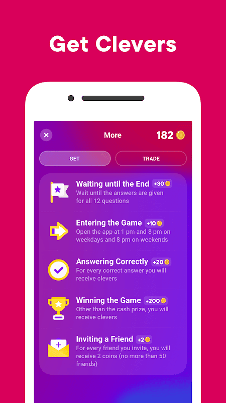 Screenshot Clever — Game with Prizes APK