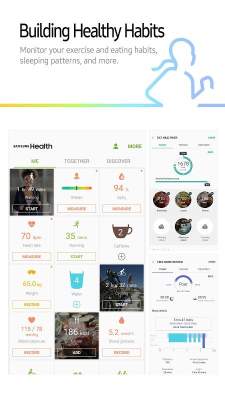 Screenshot Samsung Health APK