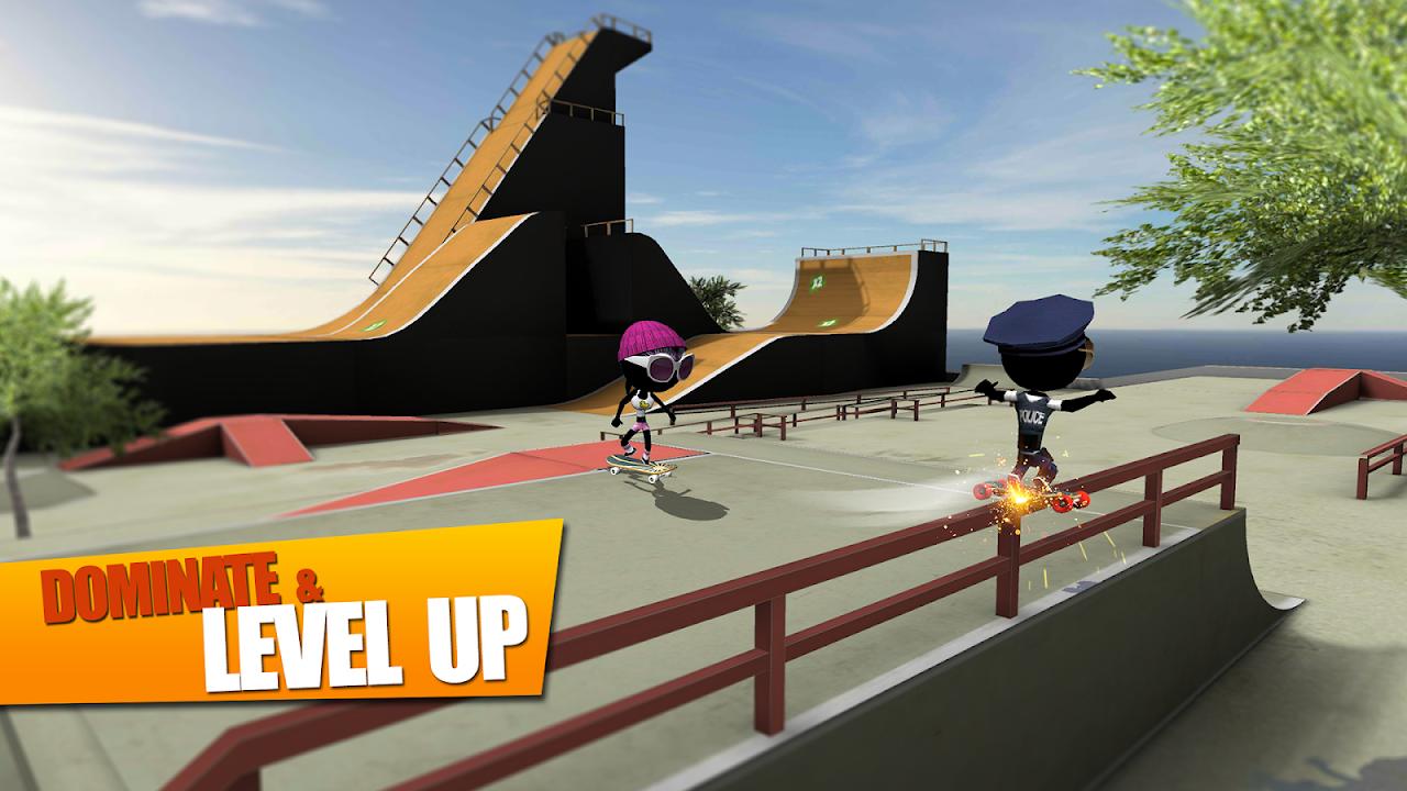 Screenshot Stickman Skate Battle APK