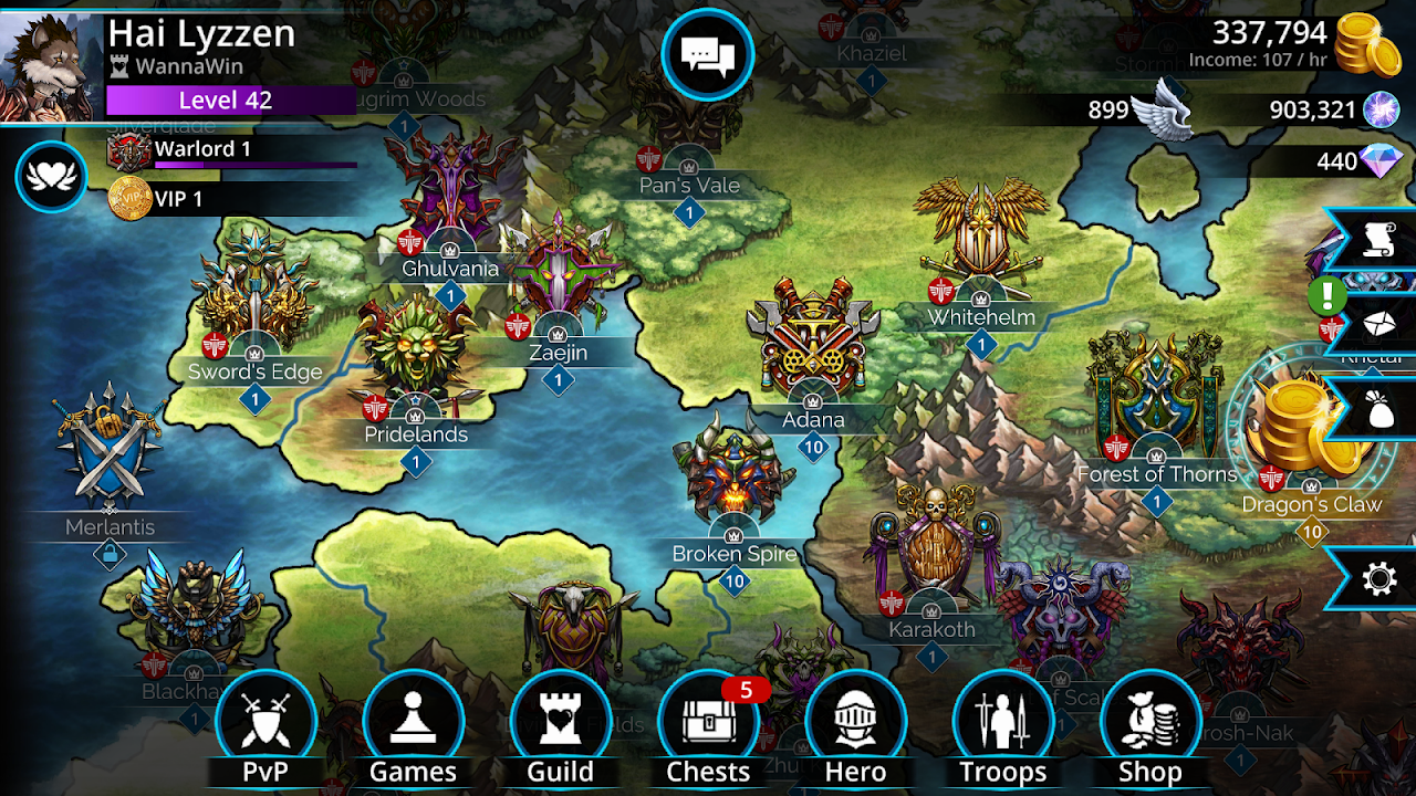 Screenshot Gems of War - Match 3 RPG APK
