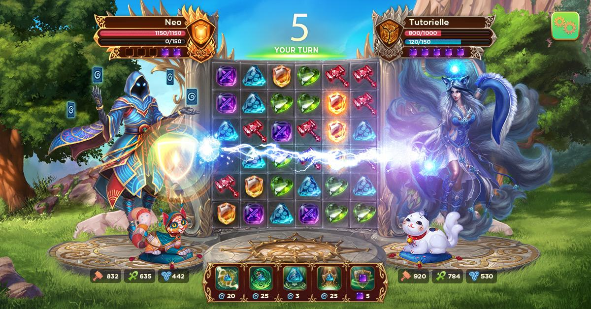 Screenshot Heroes of Alterant: Match 3 RPG APK