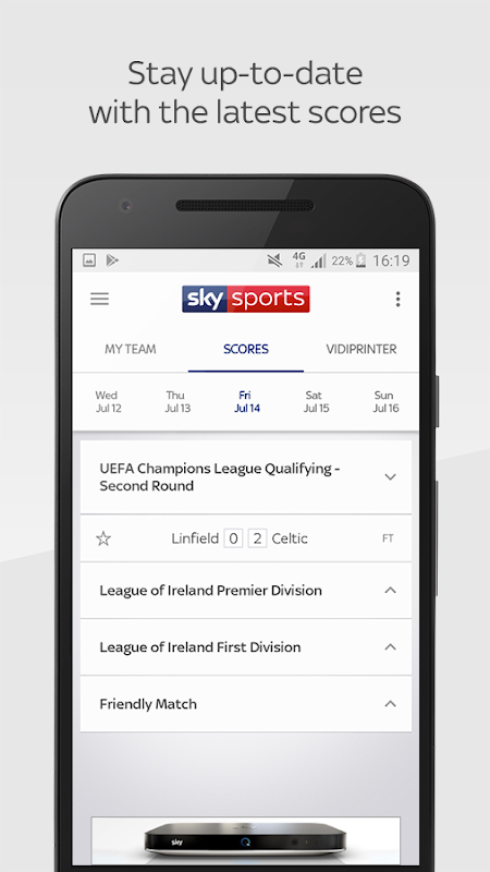 Sky Sports Live Football Score Centre The App Store android Code Lads