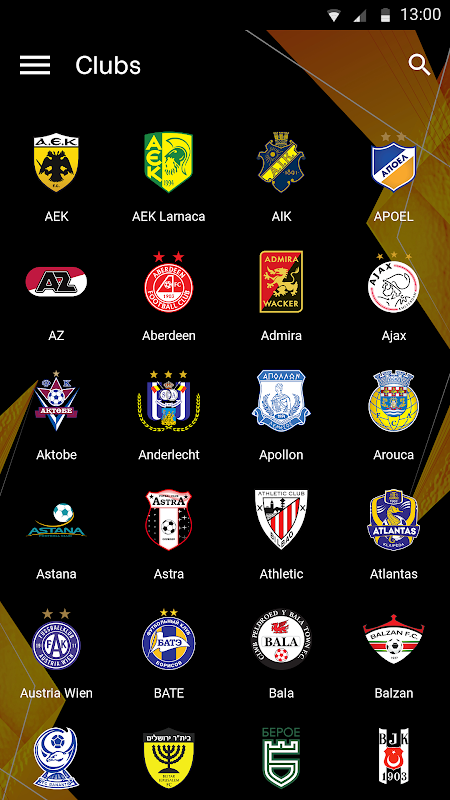 UEFA Europa League The App Store android Code Lads