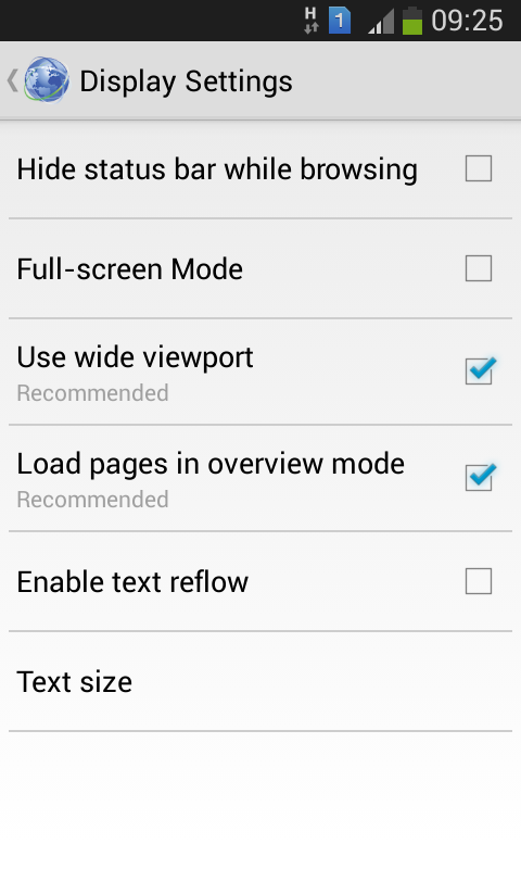 Screenshot Browser Internet Android APK