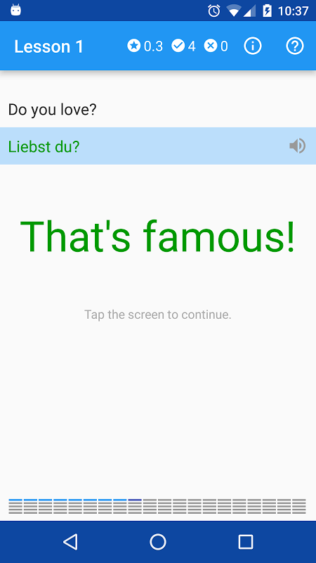 Screenshot Polyglot. Learn German APK