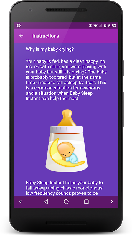 Screenshot Baby Sleep: White noise lullabies for newborns APK