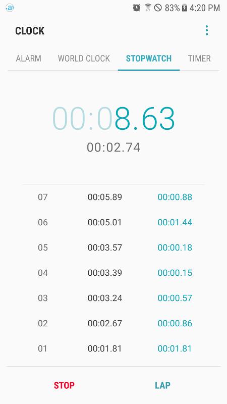 Screenshot Samsung Clock APK