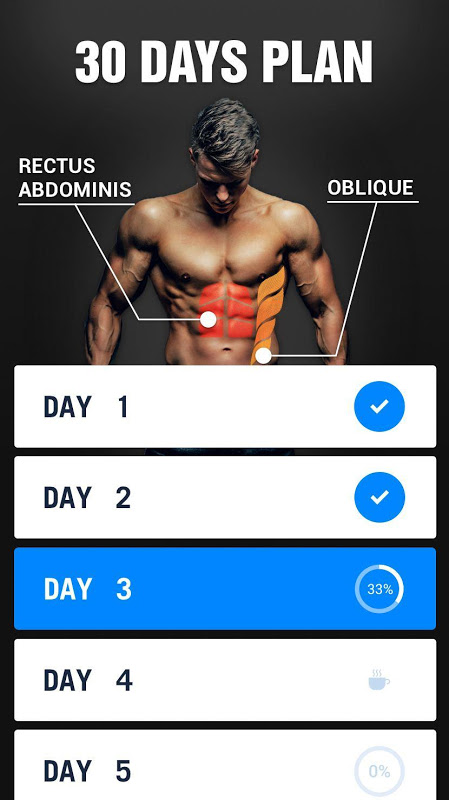 Six Pack in 30 Days - Abs Workout The App Store