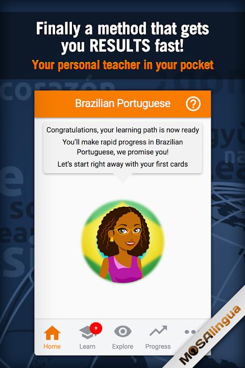Screenshot Learn Brazilian Portuguese APK