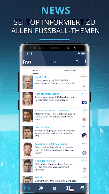 Transfermarkt: Fußballnews, Bundesliga, Liveticker The App Store android Code Lads