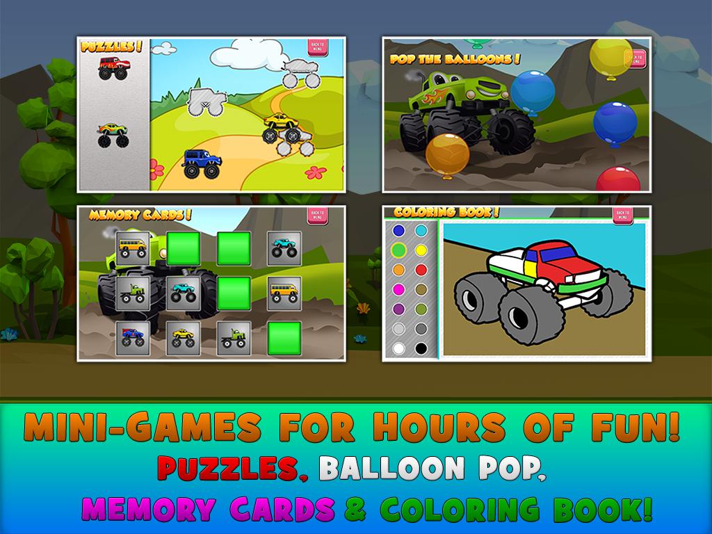 Screenshot Monster Trucks Game for Kids 2 APK