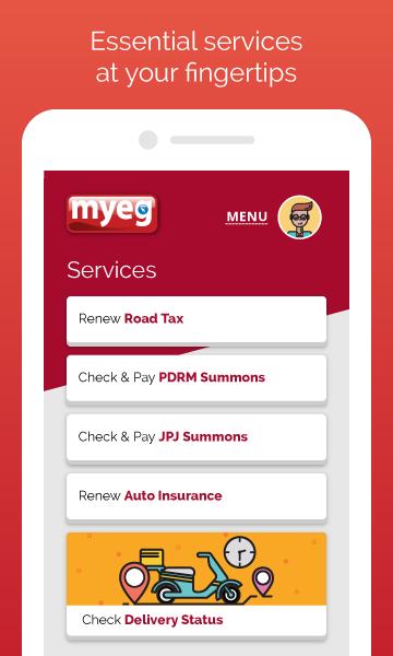Screenshot MyEG APK