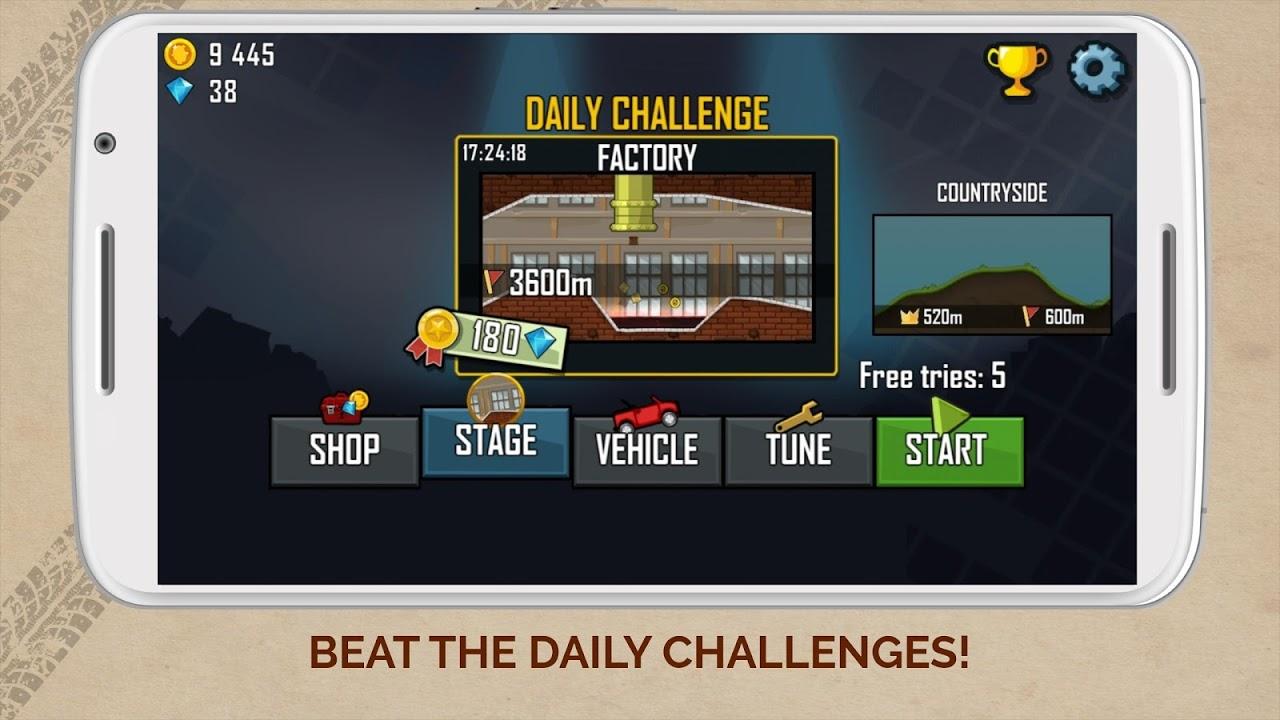Screenshot Hill Climb Racing APK