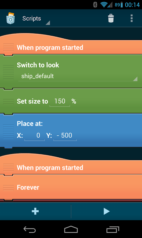 Screenshot Pocket Code: Learn programming your own game apps! APK