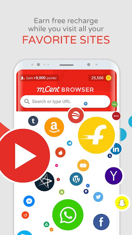 Screenshot mCent Browser - Recharge Browser APK