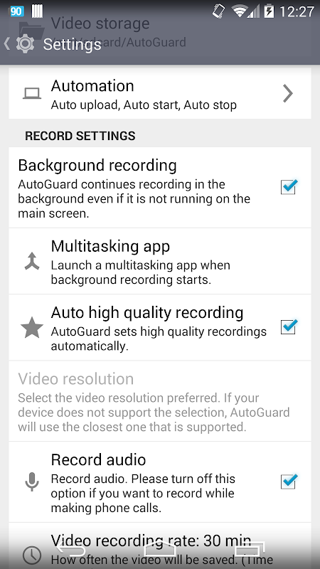 Screenshot AutoGuard Dash Cam - Blackbox APK