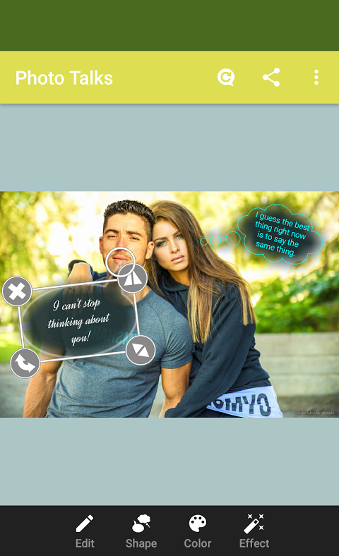 Photo talks: speech bubbles The App Store android Code Lads