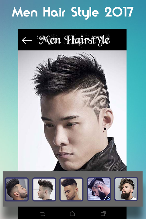 Screenshot Men Hairstyle set my face 2017 APK