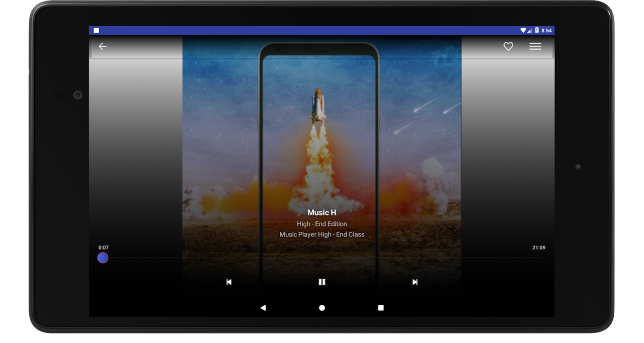 Screenshot Android Mp3 Music Player Free Oreo APK