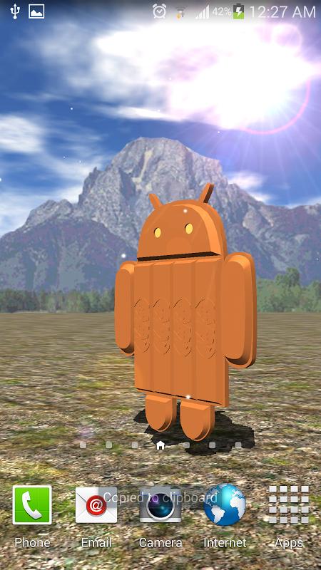 Screenshot Android Kitkat Live Wallpaper APK