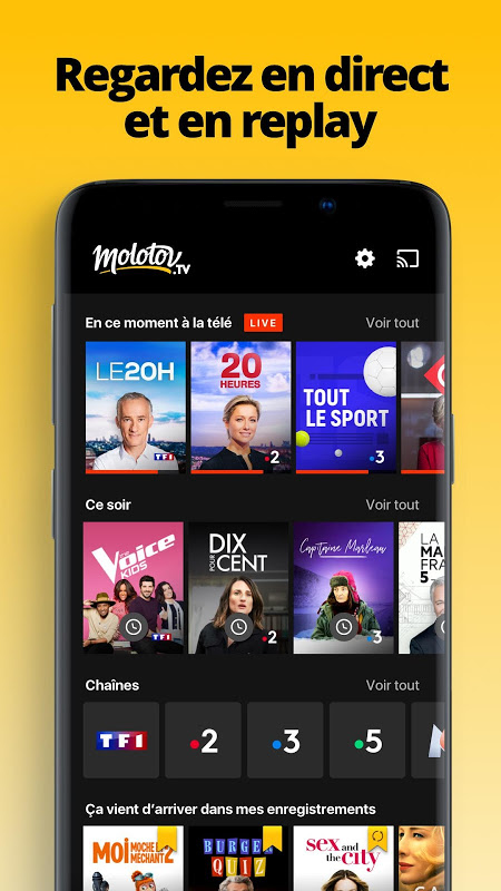 Screenshot Molotov - TV en direct et en replay APK