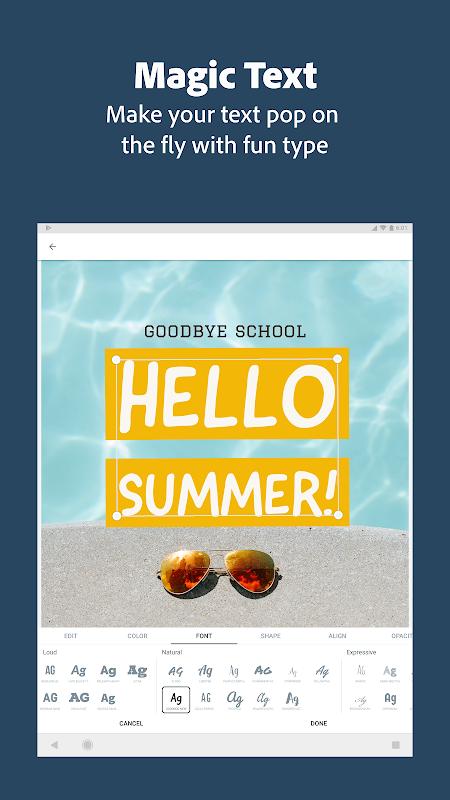 Screenshot Adobe Spark Post: Poster & Graphic Design Editor APK