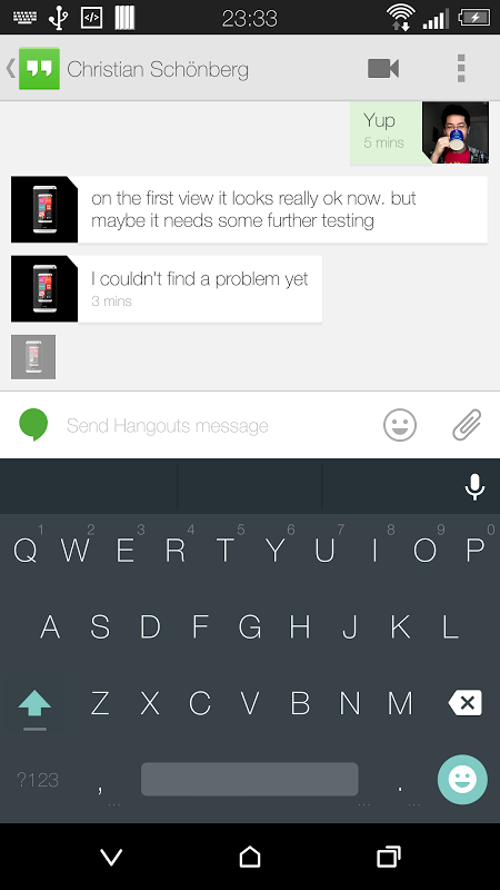 Screenshot Android L Keyboard APK