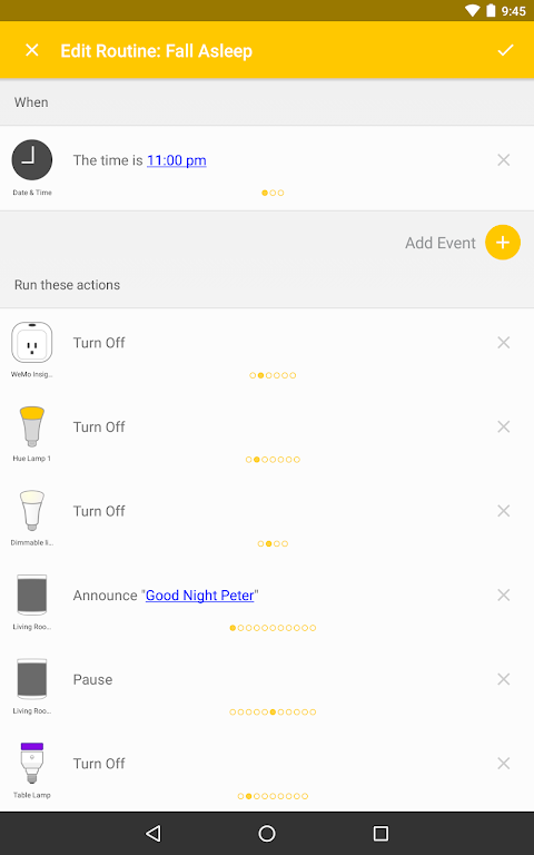 Screenshot Yonomi - Smart Home Automation APK