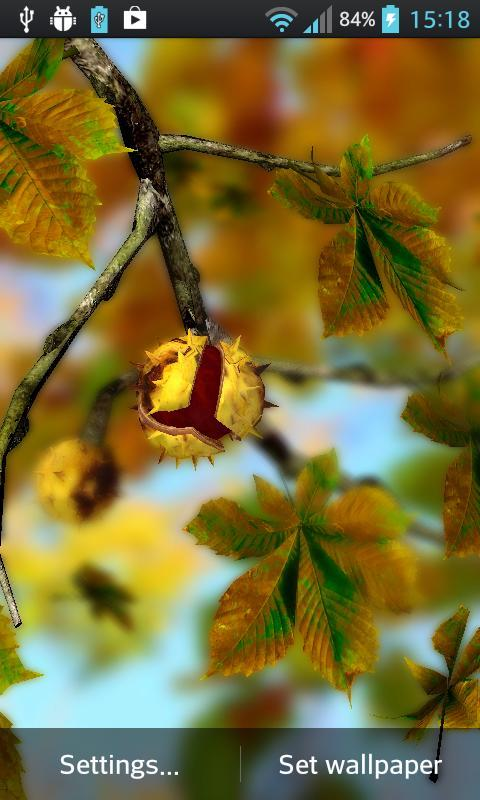 Autumn Leaves in HD Gyro 3D XL  Parallax Wallpaper The App Store