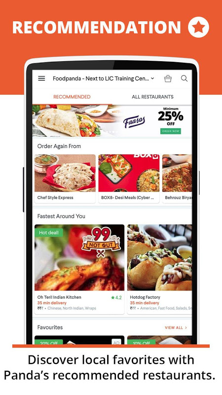 Screenshot foodpanda: Food Order Delivery, Join Crave Party APK