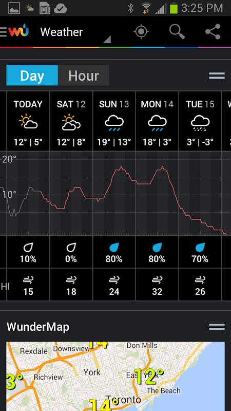 Screenshot Weather Underground APK